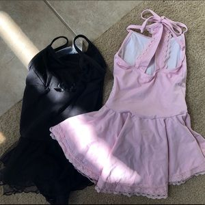 Other - Leotards VGUC pink 4/5 and black size 6/6X